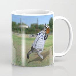 Baseball Catcher Kitten Coffee Mug