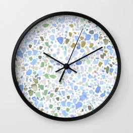 Magic Terrazzo Blue Wall Clock