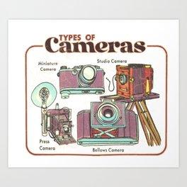Cameras - Vintage Retro Aesthetic Art Print