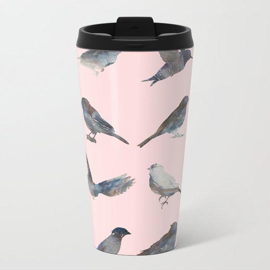 Sparrow Catalog Pink Metal Travel Mug