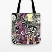 minneapolis Tote Bags featuring Minneapolis  by Aubree Eisenwinter