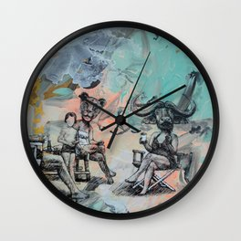Only plateaus offer a place to rest. Wall Clock