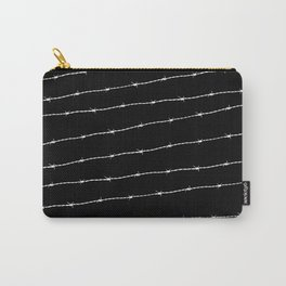 Cool black and white barbed wire pattern Carry-All Pouch