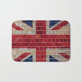 UK Union Flag on a brick wall Bath Mat