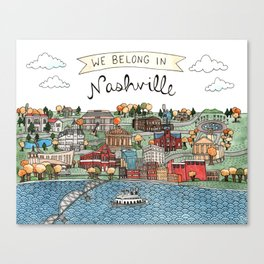 We Belong in Nashville Canvas Print