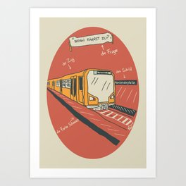 U-BAHN  Art Print