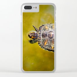 The journey of a baby turtle Clear iPhone Case