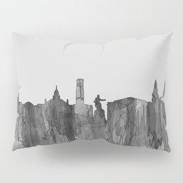 Aberdeen, Scotland Skyline - Navaho B&W Pillow Sham