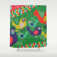 rio Shower Curtains featuring Rio 002 by Maca Salazar