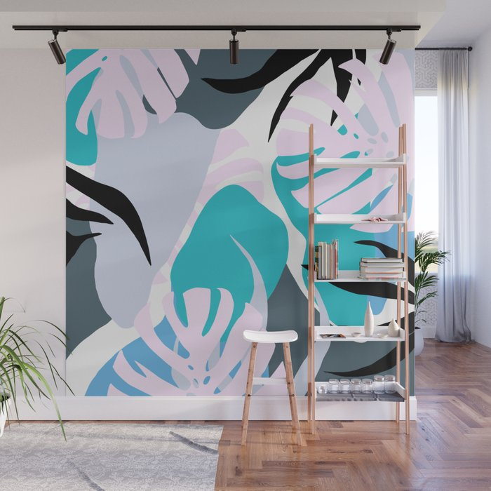 Tropical Abstract Organic Shapes Design Wall Mural By Oursunnycdays Society6