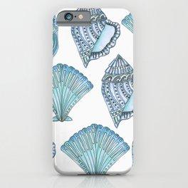 Watercolor Blue Seashells  iPhone Case