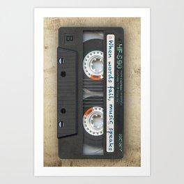 Cassette iPhone - Words Art Print