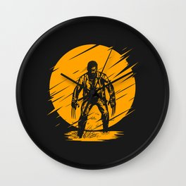 Yellow Logan Wall Clock