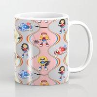 girl power Mugs featuring Girl Power by Vannina