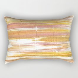 Gold abstract watercolor Rectangular Pillow
