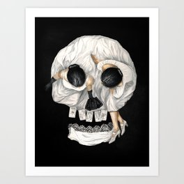 Tarot Reader Girl - Optical Illusion Skull Art Print