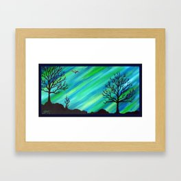 Happy Critter Tree no. 4 Framed Art Print