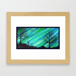 Happy Critter Tree no. 4 Framed Art Print