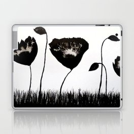 Black Poppies / Ink Painting Laptop & iPad Skin