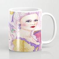 agnes cecile Mugs featuring Marie & Cecile by artofnadia