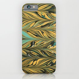 The Harvest, Yellow and Black Antique Straight Pattern  iPhone Case