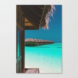 Tropical Maldives Views Canvas Print