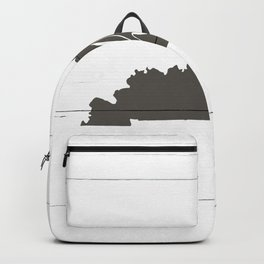 Kentucky is Home - Charcoal on White Wood Backpack