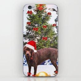 Christmas animal holidays iPhone Skin