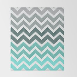 Tiffany Fade Chevron Pattern Throw Blanket
