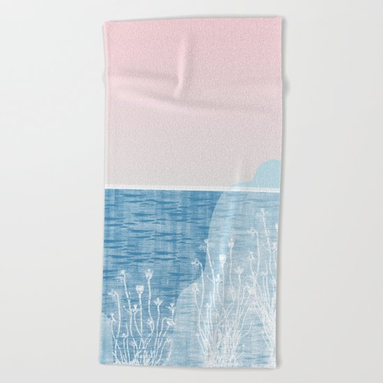 Pastel Sea Landscape Design Beach Towel