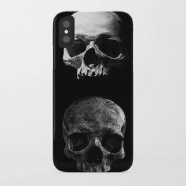 Skulls quartet BW iPhone Case