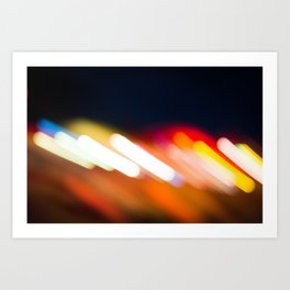 Blurred Lights Art Print