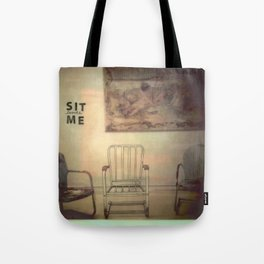 Sit Beside Me Tote Bag