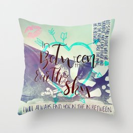 In Between artwork Throw Pillow