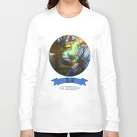 olaf Long Sleeve T-shirts featuring League Of Legends - Olaf by TheDrawingDuo