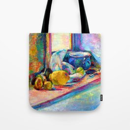 Henri Matisse Blue Pot and Lemon Tote Bag