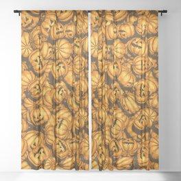 Halloween Pumpkins Pattern Sheer Curtain