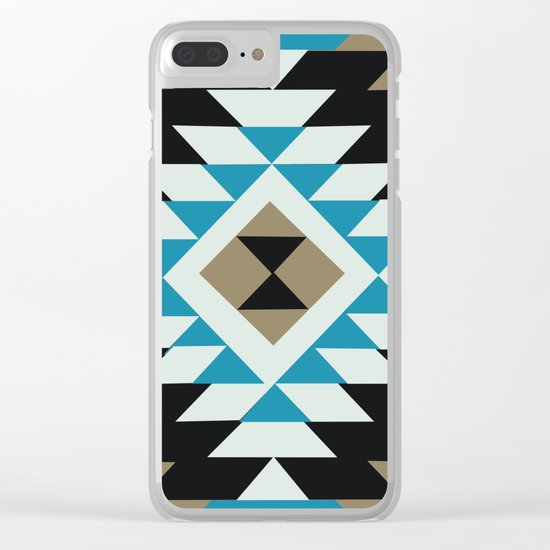 American Native Pattern No. 25 Clear iPhone Case