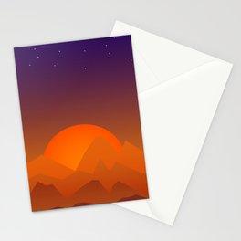 Slumbering Hills, Southwestern Landscape Art Stationery Cards