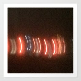 Abstracte Light Art in the Dark 21 Art Print