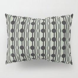 geo six dot stripe-charcoal on celadon Pillow Sham