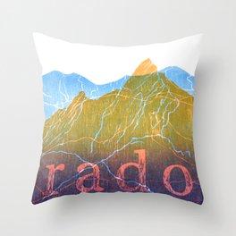 Colorado Mountain Ranges_Boulder Flat Irons + Continental Divide Throw Pillow