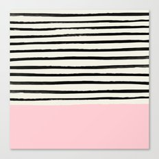Millennial Pink x Stripes Canvas Print