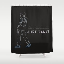 BTS JHOPE JUST DANCE LINE ART Shower Curtain