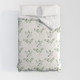 Watercolor Eucalyptus Comforters