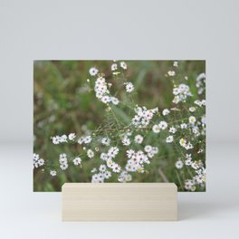 White Fairy Wildflowers Mini Art Print