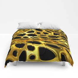 Voronoi Gold Surface Comforters