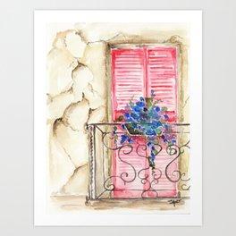 Balcony in France Art Print