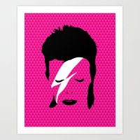 Ziggy Stardust - Pink Art Print