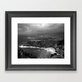 Bad weather Framed Art Print